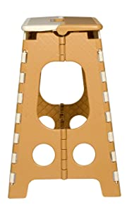 Logic Foldable Pick N Move Stool 18 Inch (Beige & Brown)