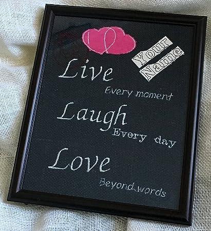 Amazon.com: Love quotes - burlap custom quotes ...