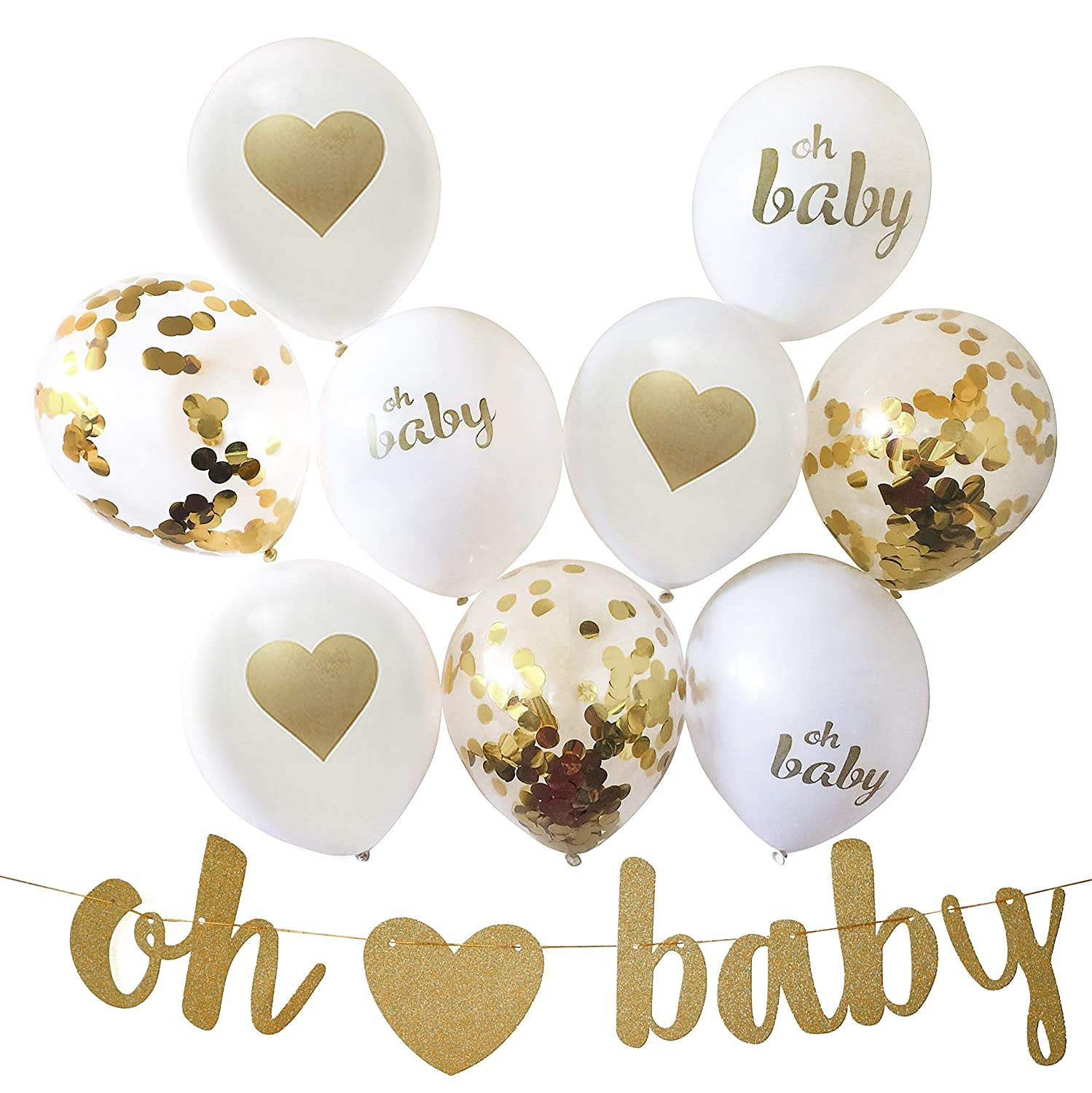 Gender Reveal Party Decorations For Gender Neutral Baby Shower 13 Piece Set Includes Oh Baby Banner