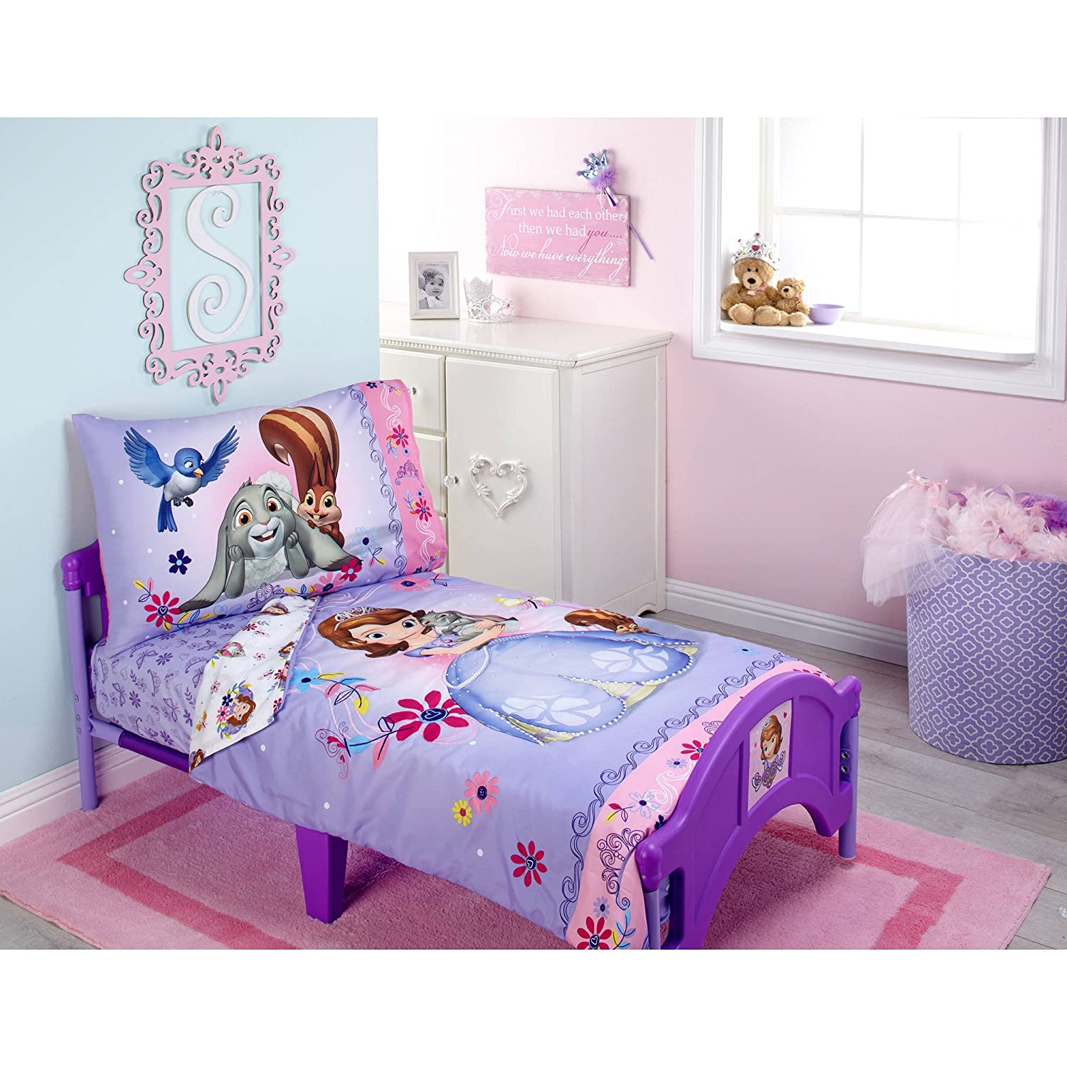 Sofia Friends are Magic 4-Piece Toddler Bedding Set by Disney
