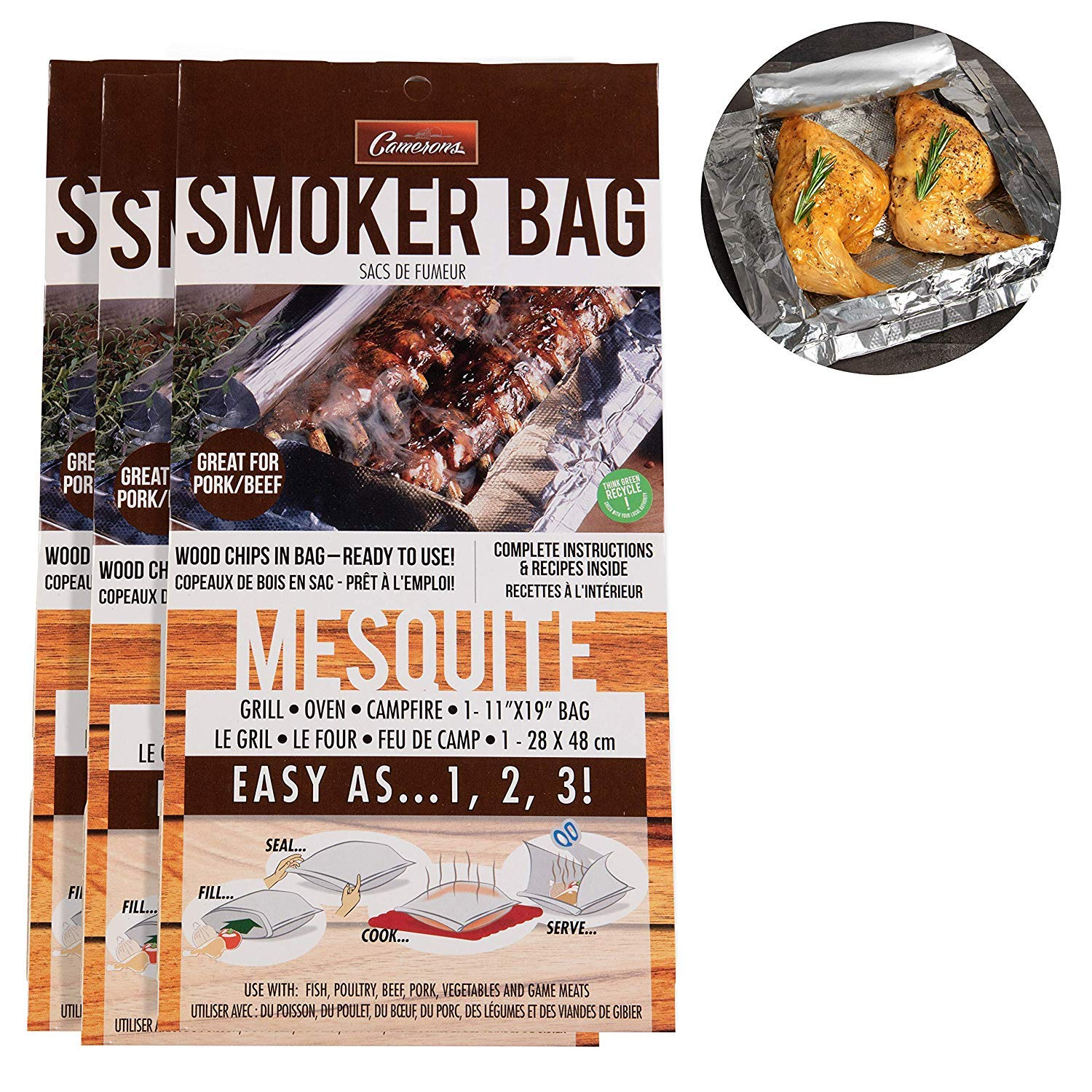 Yard, Garden & Outdoor Living Outdoor Camping Smoker Cooker Fish Meat & Cooking Bbq Inc Bag Of Wood Chips New High Quality Goods