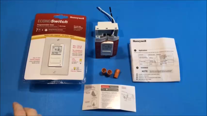 honeywell programmable light switch instructions