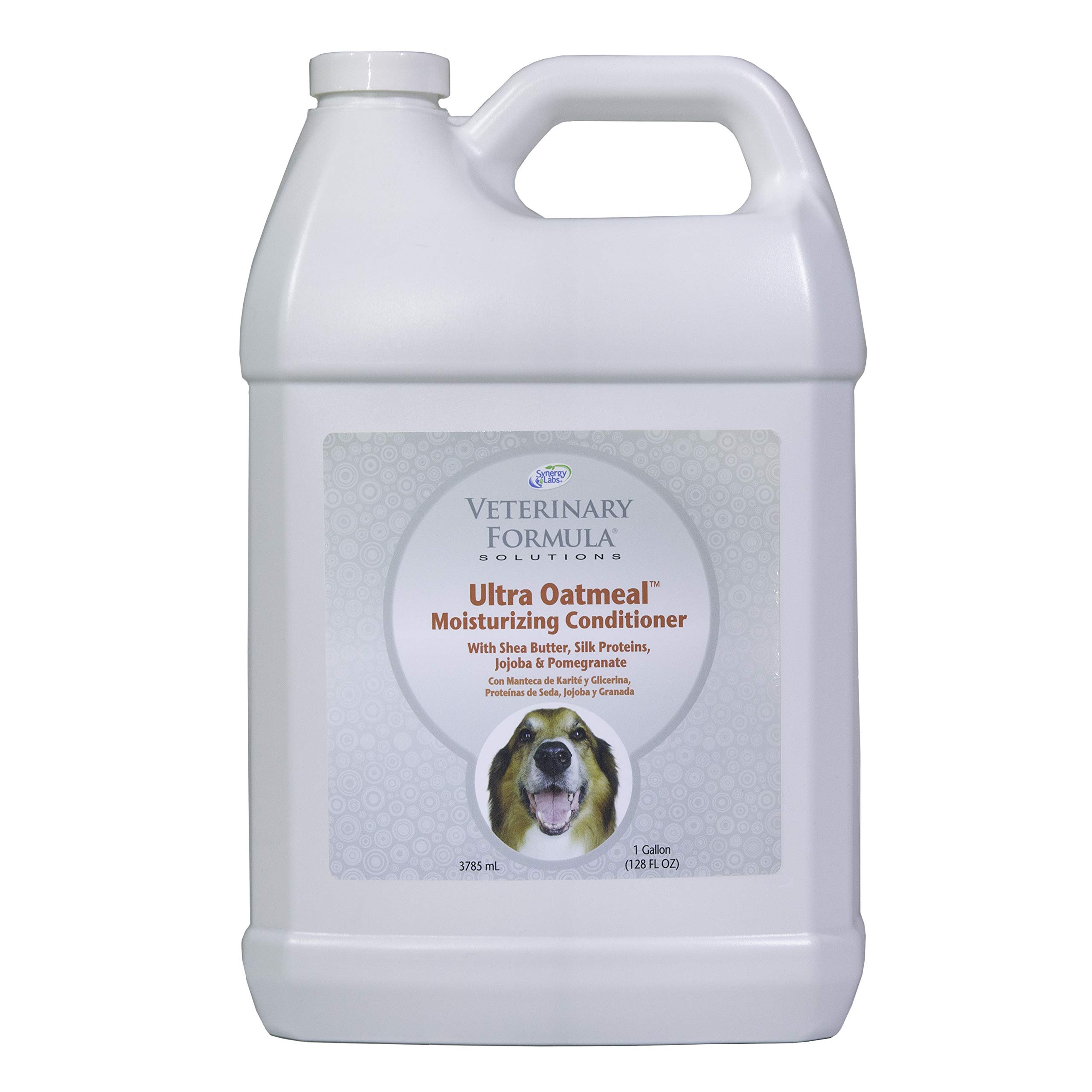 Veterinary Formula Solutions Ultra Oatmeal Moisturizing Conditioner, Soothes Skin Related Issues, Clinically Proven Dog Itch Relief (1 Gallon) by Synergy
