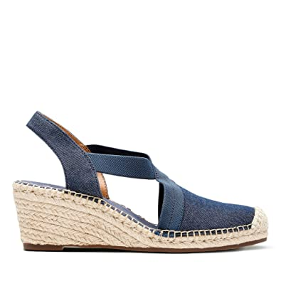 2d98adcaa95 Clarks Petrina Lela Textile Sandals in Denim Standard Fit Size 4 Blue