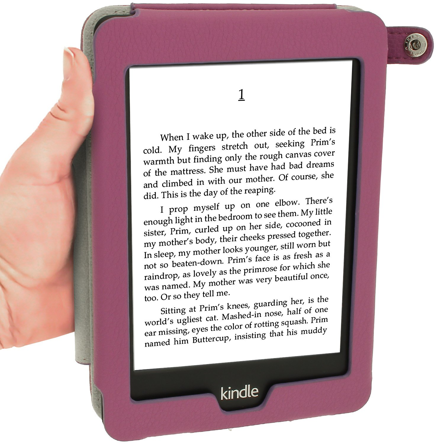 iGadgitz Purple PU 'Bi-View' Leather Case Cover for Amazon Kindle Paperwhite 2015 2014 2013 2012 With Sleep/Wake Function & Integrated Hand Strap by igadgitz (Image #7)