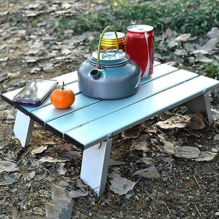 Bloomma Camping Tisch, Outdoor Klapptisch und Stühle Rollen Beistelltisch für Camping,Picknick,Reisen,Strand