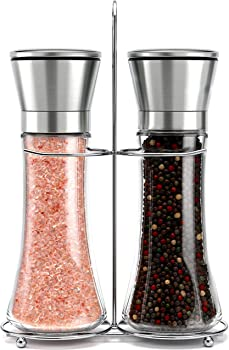 Willow & Everett Original Stainless Steel Salt and Pepper Grinder Set