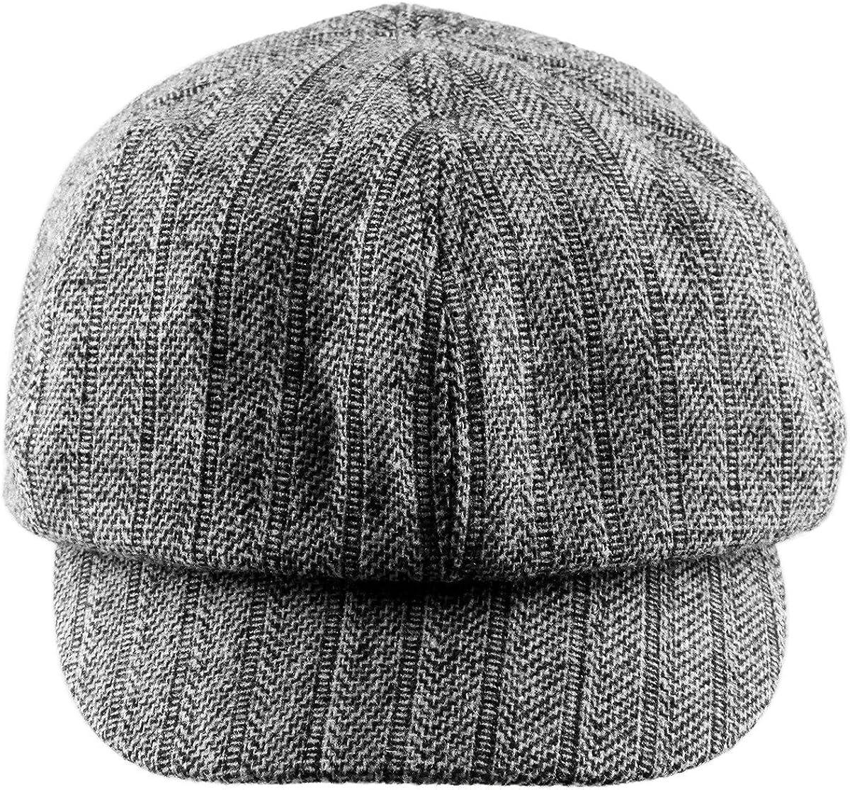 Lot of 2 Men/'s Corduroy Newsboy Cabbie Hat Ivy Gatsby Brown /& Black S//M NEW L#5