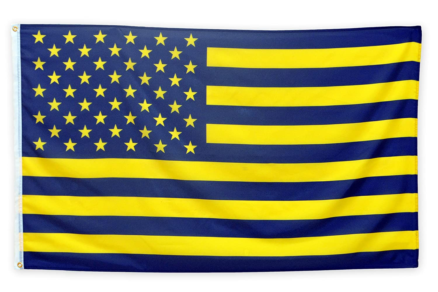 Amazon.com : Pointview Flags Maize and Blue American Flag - 3 by 5 ...