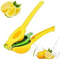 Chefbar Top Rated Premium Quality Metal Lemon Lime Squeezer - Manual Citrus Press Juicer FreshForce Citrus Juicer Aluminum Lime Squeezer Yellow