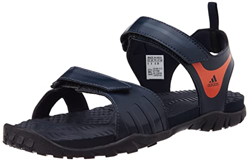 Empresa desencadenar Comparable  Adidas Men's Escape 2.0 Dark Blue, Orange and Black Athletic & Outdoor  Sandals - 12 UK: Buy Online at Low Prices in India - Amazon.in