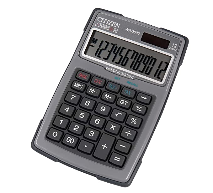 Citizen 7238082 Outdoor 3000 - Calculadora de mesa (resistente al ...