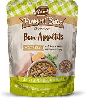 product image for Merrick Purrfect Bistro Bon Appetits Grain Free Adult Wet Cat Food, 3 oz. Pouches (Case of 24)