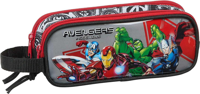 safta 812079513 Estuche portatodo Doble 2 Cremalleras Escolar Avengers, Multicolor: Amazon.es: Equipaje