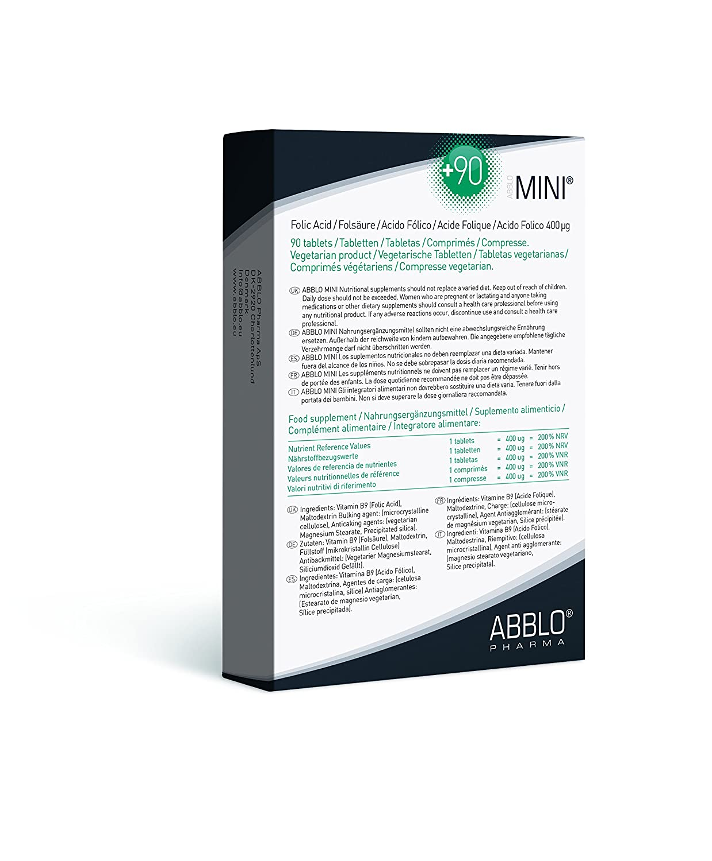 ABBLO Embarazada Acido Fólico 400µg (Folic Acid): Amazon.es: Salud y cuidado personal