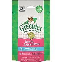 Greenies Feline Dental Cat Treat Salmon Flavour 60G Bag, One Size