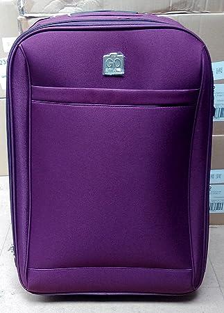 Go Explore Large Purple Suitcase: Amazon.co.uk: Luggage