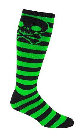 Moxy calcetines hasta las rodillas de cráneo de Skater rayas calcetines de peso muerto: Amazon.es: Deportes y aire libre