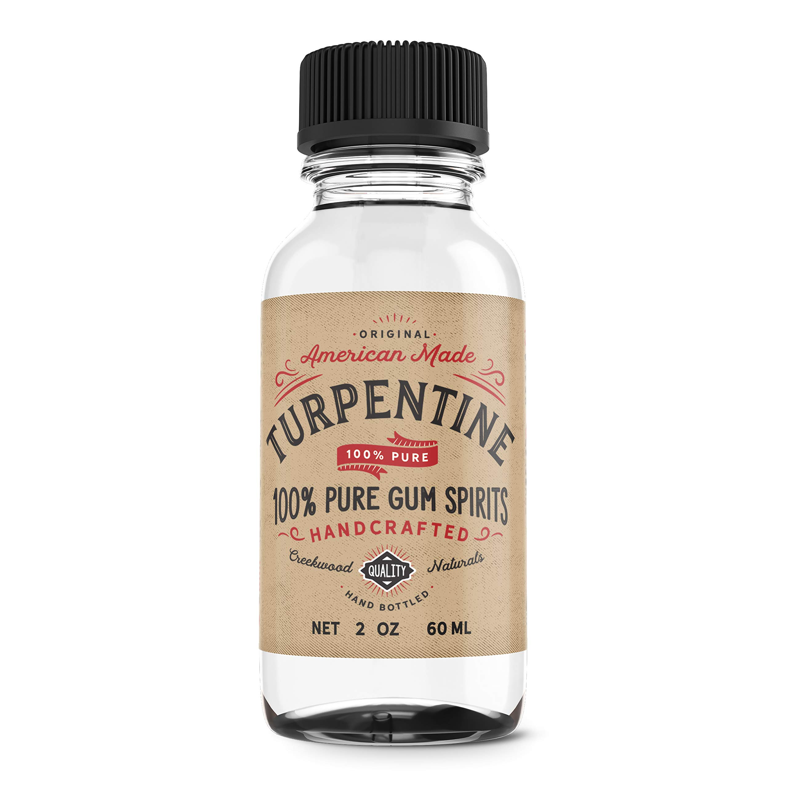 2 Ounce 100% Pure Gum Spirits of Turpentine