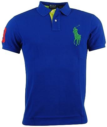aaa29ac81238 Polo Ralph Lauren Mens Custom Fit Big Pony Mesh Polo Shirt at Amazon Men s  Clothing store