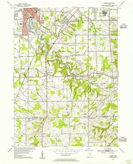 Amazon Com Yellowmaps Berea Oh Topo Map 1 24000 Scale 7 5 X 7 5