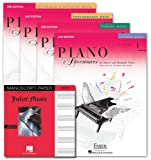 Faber Piano Adventures Level 1 Learning Library Set Lesson,Theory, Performance, Technique & Artistry Books and Juliet Music Premium Manuscript Book