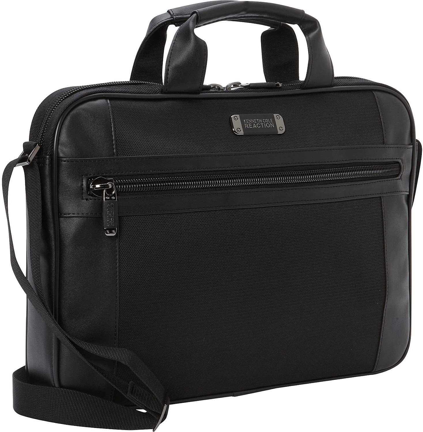 "Kenneth Cole Reaction 15.6"" Slim Top Zip Laptop Bag, Black One Size"