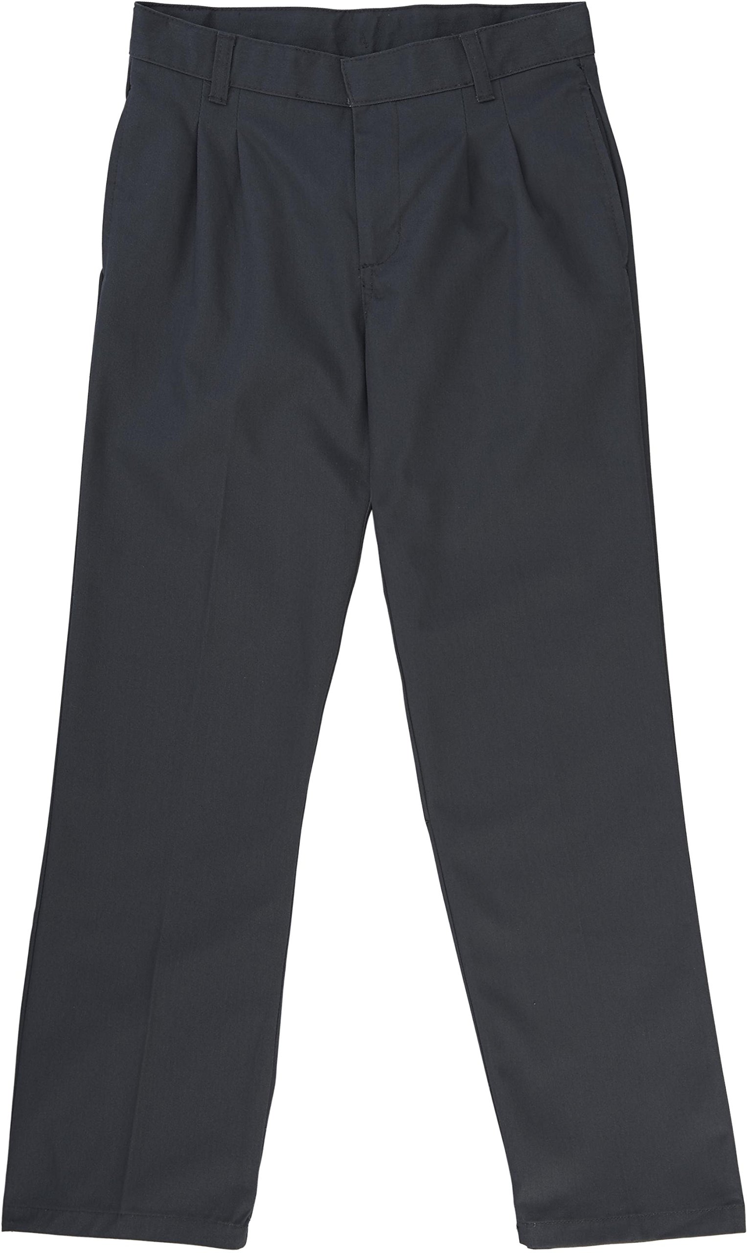 French Toast School Uniform Boys Adjustable Waist Pleated Double Knee Pants, Gray, 18 by French Toast