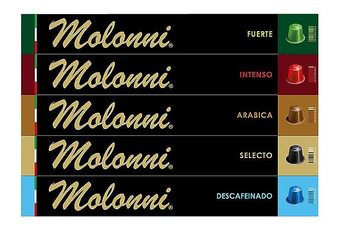 Molonni - Cápsulas de café - Surtido Clásicos - Compatible con Nespresso - 50 cápsulas