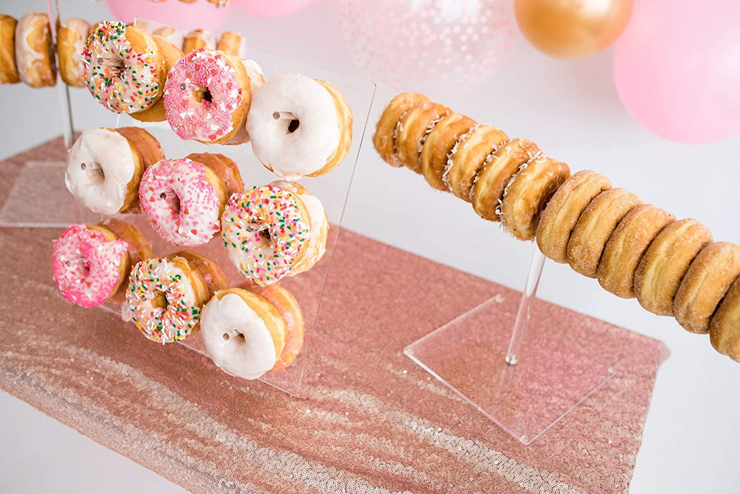 M137SHOT GLASS WALL STAND HOLDS 24doughnut donut candycart sweets wedding party