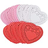 Fun Express Mini Valentine Heart Doilies - Assorted Colors - 100 Pieces