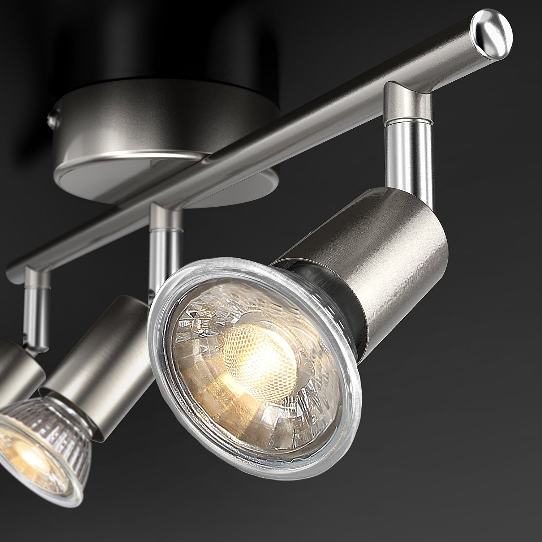 Uchrolls LED Deckenleuchte Schwenkbar inkl Warmwei/ß 3 Flammig LED Deckenlampe LED Deckenspot LED Deckenstrahler LED Leuchte 400LM 3 x 5W Leuchtmittel GU10 LED