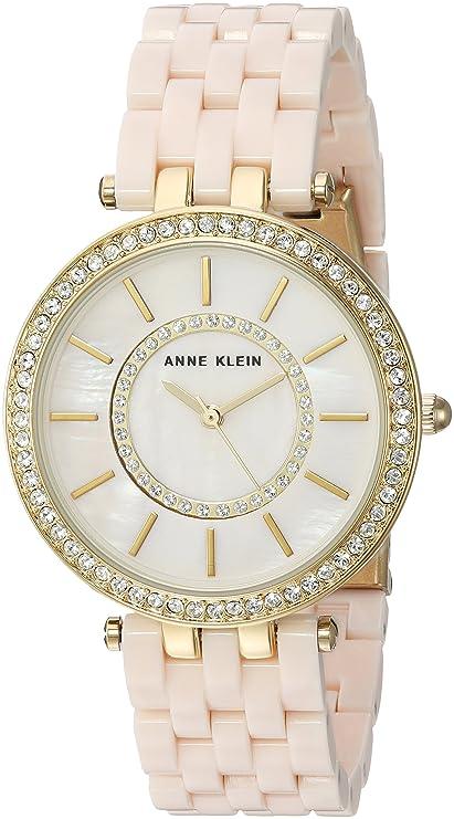 Anne Klein Womens AK-2620LPGB Gold Resin Japanese Quartz Fashion Watch: Anne Klein: Amazon.es: Relojes