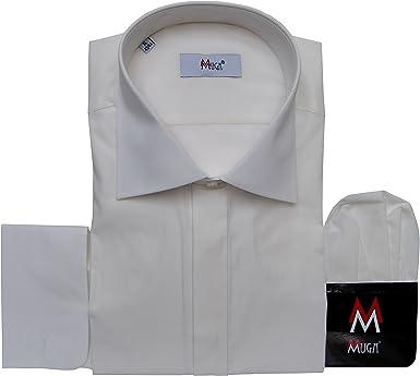 mmuga sobre Manguitos Camisa para Hombre, Color Crema/Ivory, Tallas S – 5 x l: Amazon.es: Ropa y accesorios