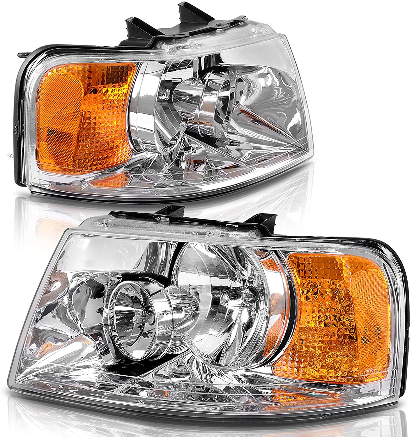 Headlights Assembly Replacement For 03-06 Ford Expedition OE style Headlamp Passenger Driver Side