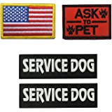 GrayCell Dog Pack Hound Travel Hiking Backpack Saddlebags/Morale Service Dog Patches for Pet Tactical K9 Harness Vest