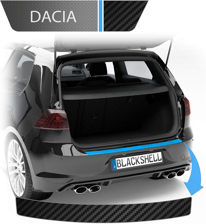 Blackshell Ladekantenschutz Folie Inkl Premium Rakel Passend Für Duster Bj 2010 2018 Carbon Matt Passgenaue Lackschutzfolie Auto