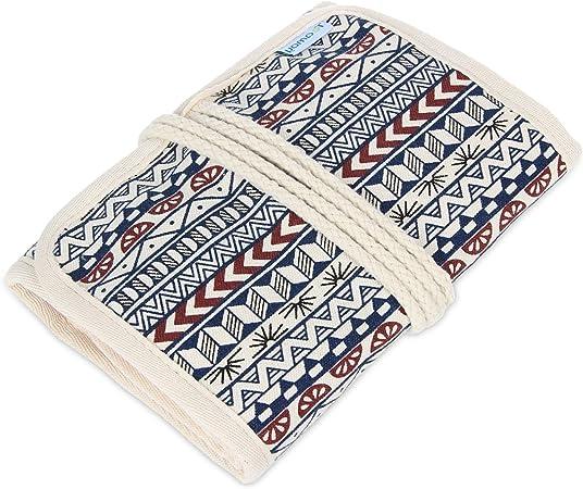 Damero Bolsa para Kit de Ganchillos Estuche para Agujas Bolso para Hacer Puntos Organizador para Crochet, No incluido accesorios, Bohemian: Amazon.es: Hogar