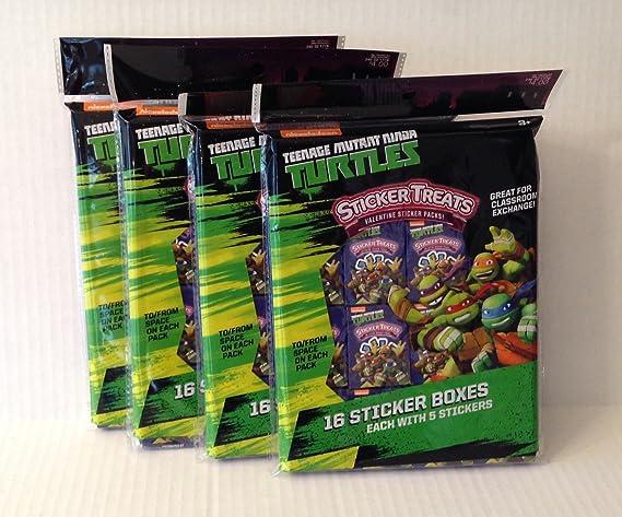 Amazon.com: Teenage Mutant Ninja Turtles Valentine Stickers ...