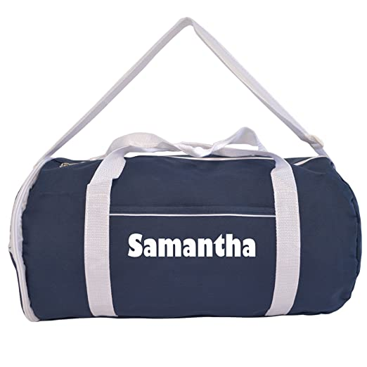 e5200efa3937 Image Unavailable. Image not available for. Color  Kaysees Personalized Two-Tone  Sport Gym Roll Duffel Bags with Player Name Navy Blue