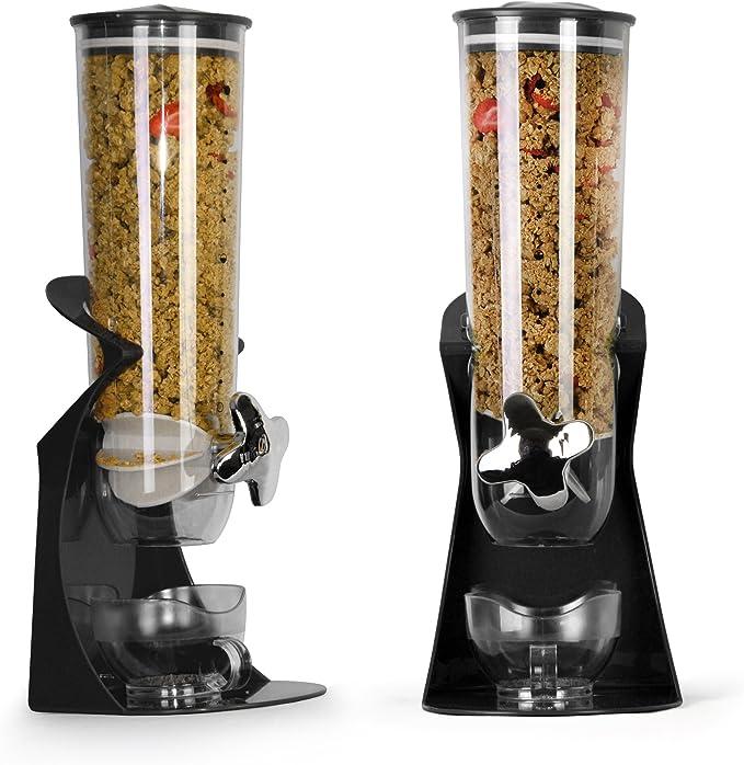 Enyaa doble dispensador; para cereales y alimentos secos con ...