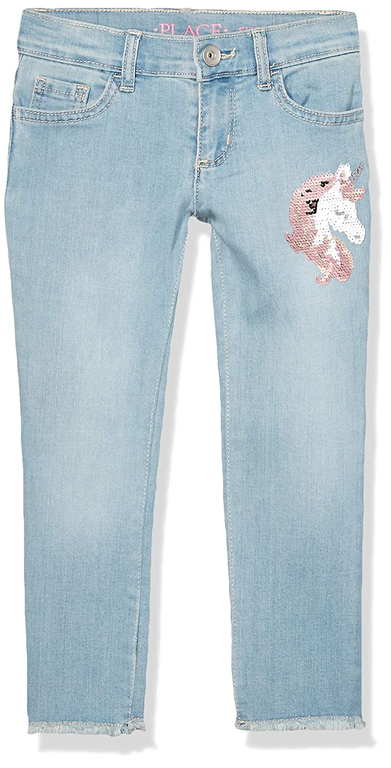The Childrens Place Girls Big Sequin Fashion Skinny Jeans