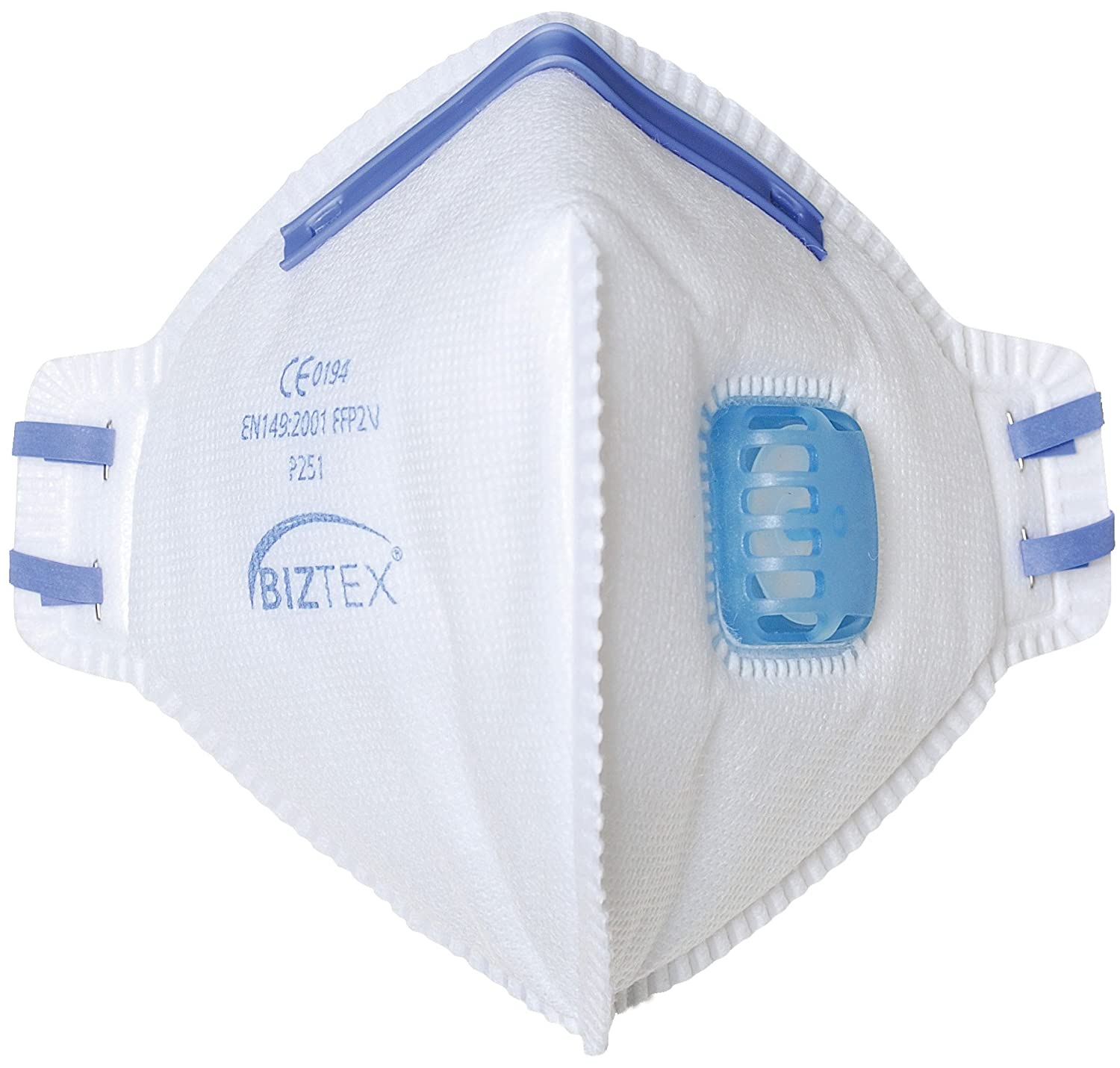 Portwest P251WHR FFP2 Valved Fold Flat Respirator (Pack of 20)