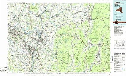 Amazon.com: 1986 Albany, NY   USGS Historical Topographic Map  Fine ...