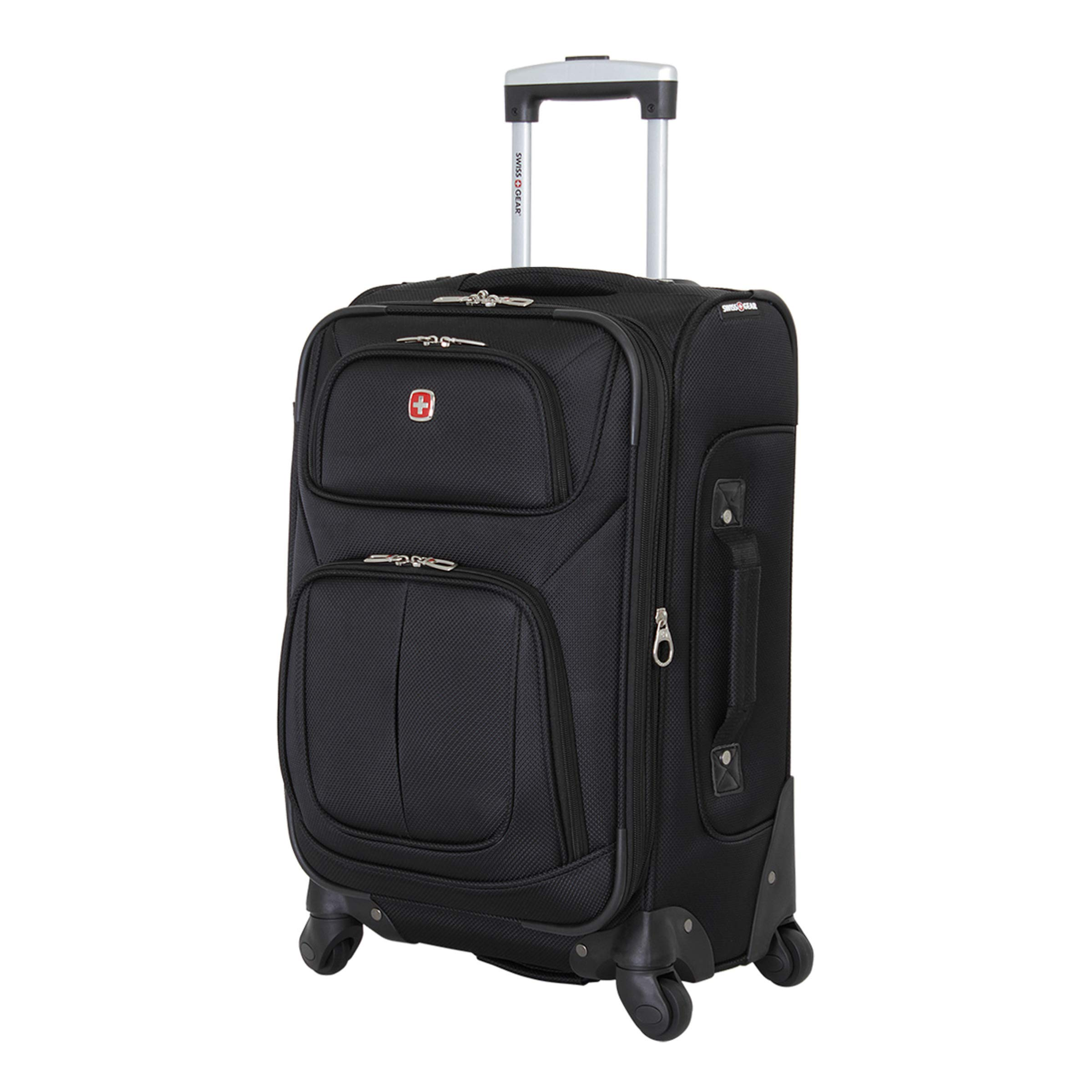 Sion Softside Luggage with Spinner Wheels, Black, Carry-On 21-Inch