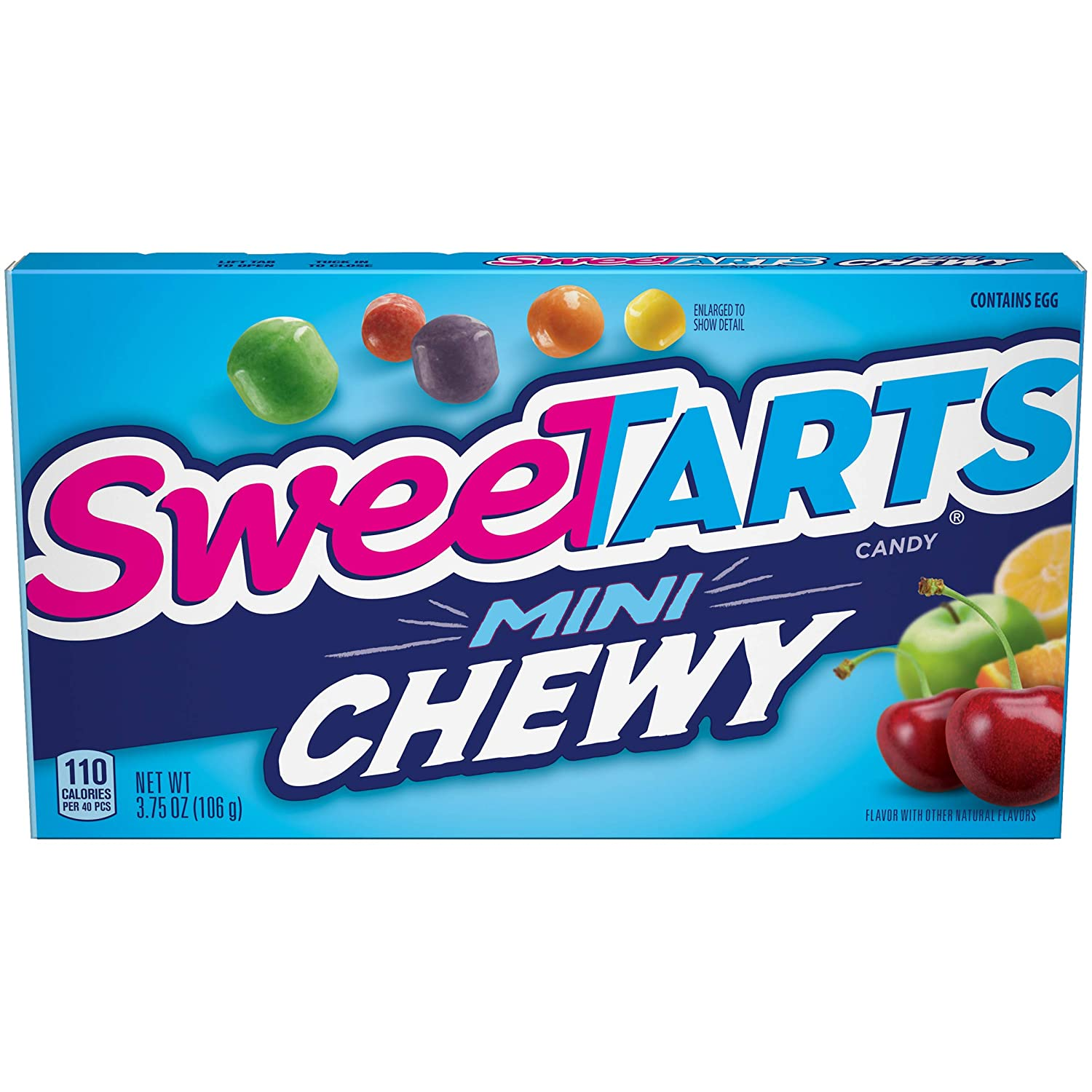 SweeTARTS Mini Chewy Candy Theater Box, 3.75 Ounce, Pack of 12 : Fruit Flavored Candies : Grocery & Gourmet Food