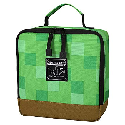 10eefde17f Image Unavailable. Image not available for. Color  JINX Minecraft Creeper Block  Insulated Kids School Lunch Box for Boys