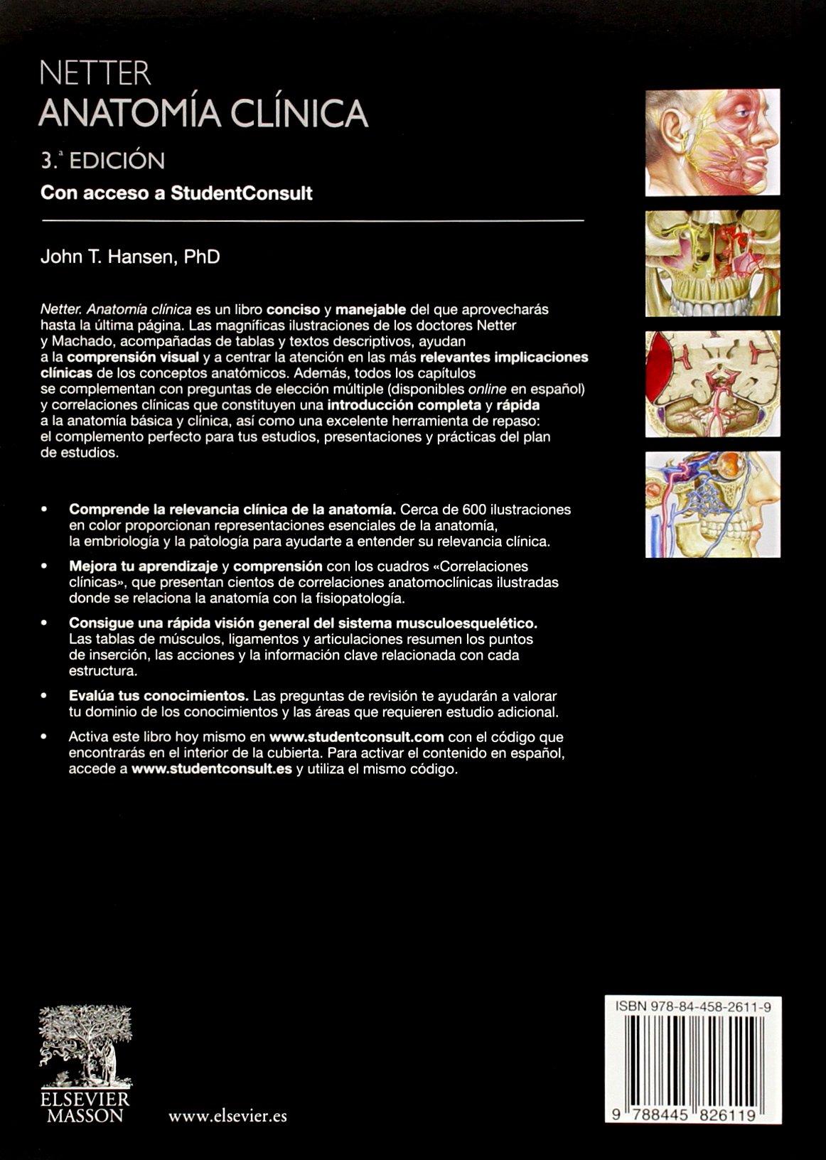 Netter. Anatomía Clínica - 3ª Edición + 2 StudentConsult: Amazon.es ...