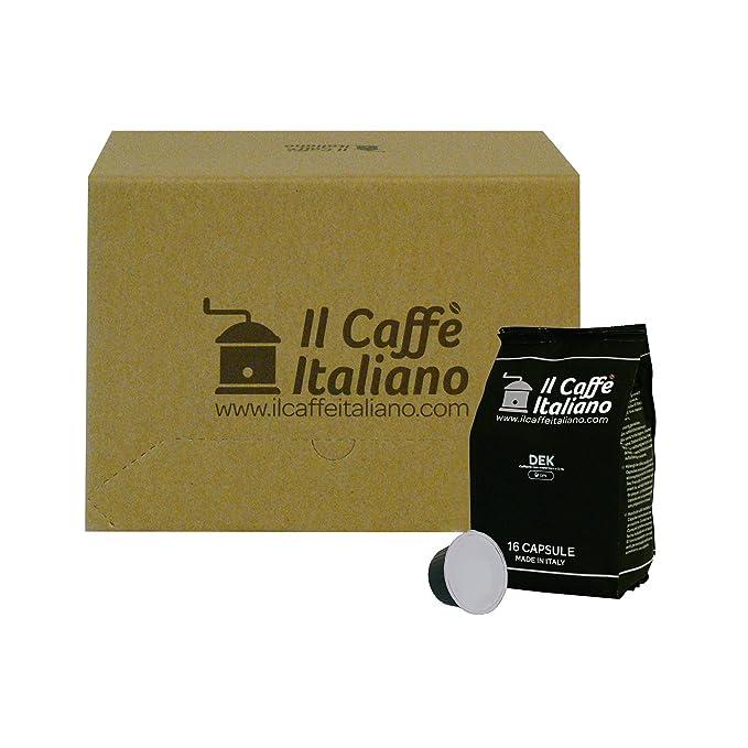 96 cápsulas de café compatibles Nescafé Dolce Gusto - Café Descafeinado - Il Caffè italiano -