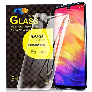 6094f2f8d KuGi. para Xiaomi Redmi Note 7 Protector de Pantalla, Cristal Templado [9H  Dureza